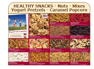 Healthy Snacks - Nuts - Mixes - Yogurt Pretzels - Carmel Popcorn